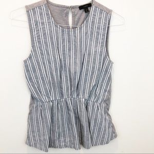 J. Crew striped front blue & white sleeveless top